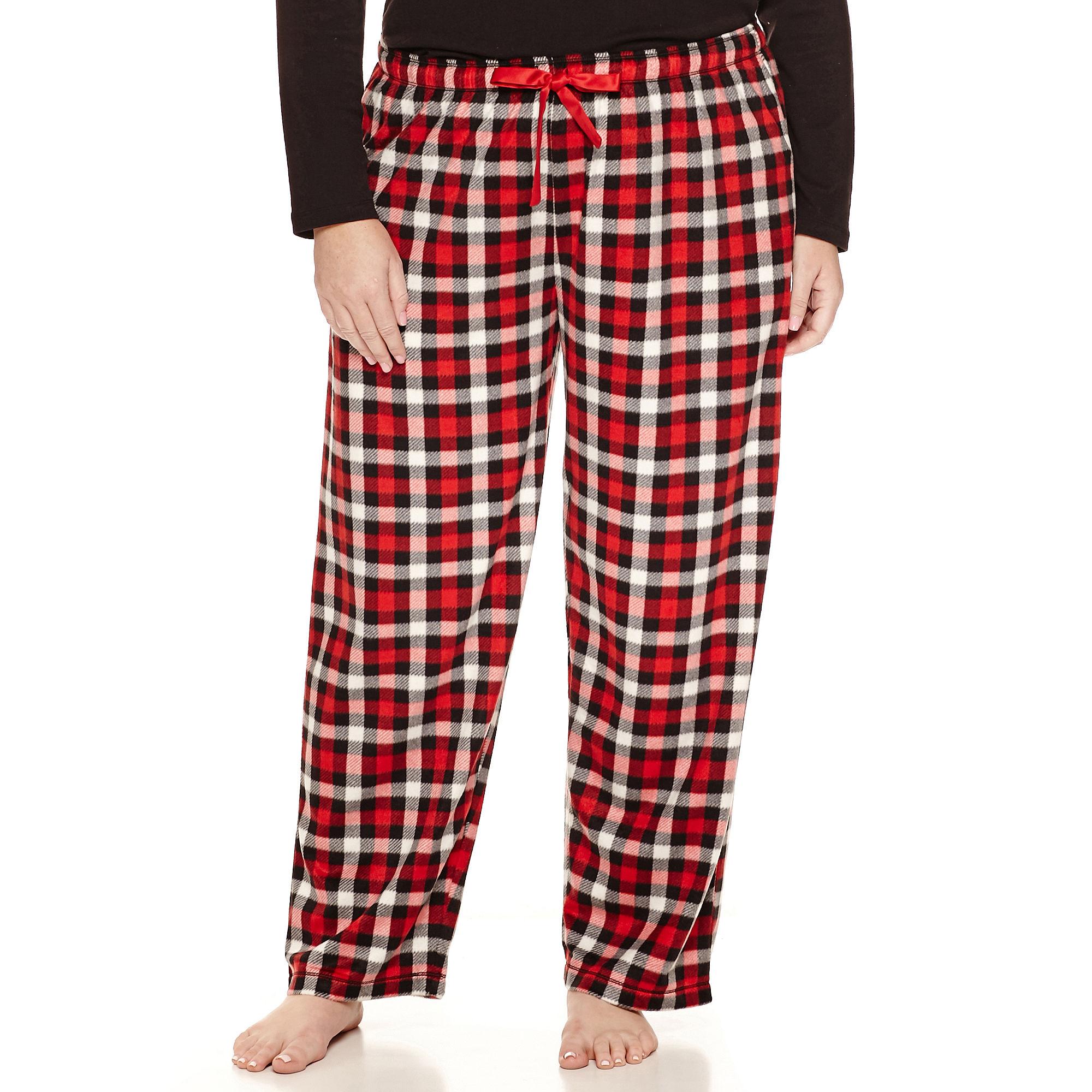 Sleep Chic Fleece Pajama Pants-Plus plus size,  plus size fashion plus size appare
