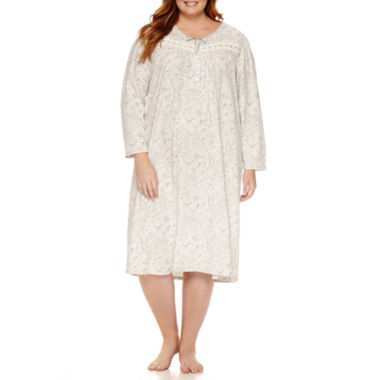 jcpenney.com | Adonna Microfleece Long Sleeve Nightgown