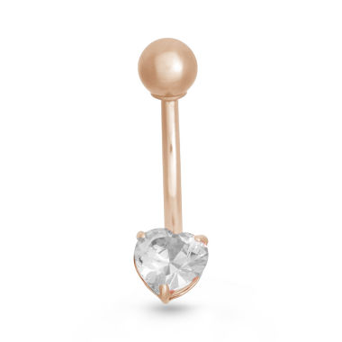 jcpenney.com | 10K Pink Gold Cubic Zirconia Belly Ring