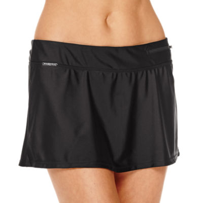 Zero Xposur® Knit Action Skirtini Swim Bottom