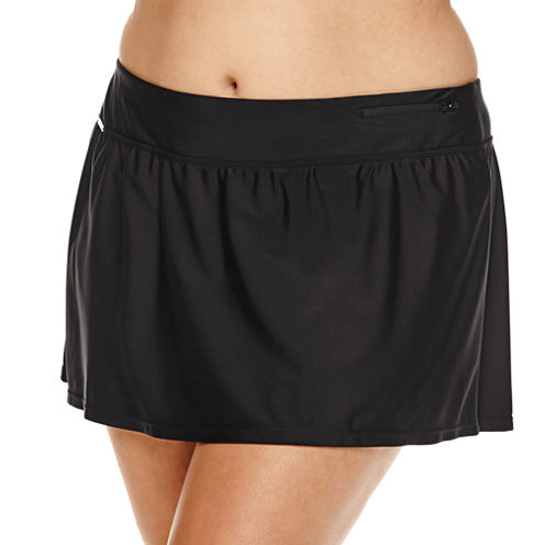ZeroXposur® Knit Action Swim Skirt - Plus