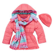 Pink Platinum Puffer Jacket - Toddler 2T-5T