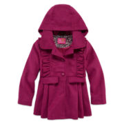 Pink Platinum Peacoat - Preschool 4-7X
