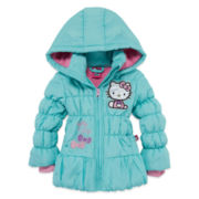 Hello Kitty Girls Hello Kitty Heavyweight Puffer Jacket-Preschool