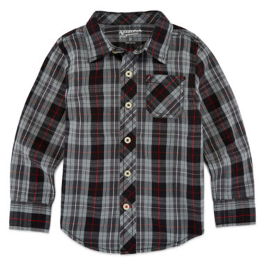 jcpenney.com | Arizona Boys Long Sleeve Button-Front Shirt
