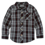 Arizona Boys Long Sleeve Button-Front Shirt