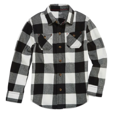 jcpenney.com | Arizona Boys Long Sleeve Button-Front Shirt - Preschool 4-7