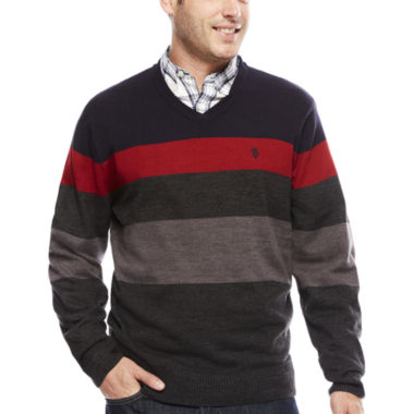 jcpenney.com | U.S. Polo Assn. V Neck Long Sleeve Acrylic Pullover Sweater