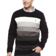 U.S. Polo Assn.® Long-Sleeve Striped Crewneck Sweater