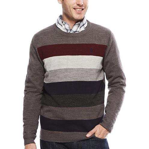 U.S. Polo Assn.® Long-Sleeve Striped Crewneck Sweater