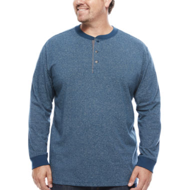jcpenney.com | The Foundry Big & Tall Supply Co.™ Long-Sleeve Henley Shirt