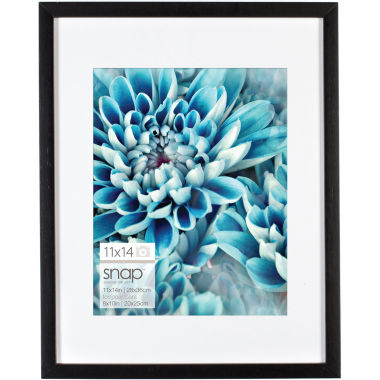 "jcpenney.com | Snap 11x14"" Black Wood Frame, Matted To 8x10"""