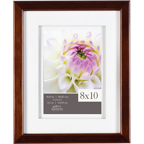 "Gallery Solutions 8x10"" Espresso Frame, Matted To 5x7"""