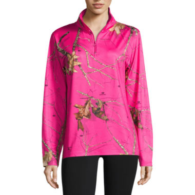 Mossy Oak 1/4 Zip Hot Pink Shirt - JCPenney