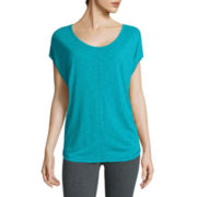 Xersion™ Studio Ss Slub Cocoon Tee
