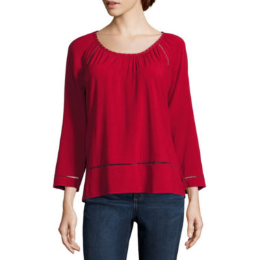 jcpenney.com | St. John`S Bay  Scoop Beaded Blouse-Talls