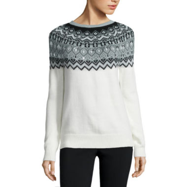 jcpenney.com | St. John's Bay® Beaded Fairisle Sweater