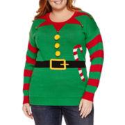 Tiara International Round Neck Knit Pullover Sweater