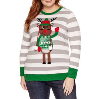 jcpenney.com | Tiara International Christmas Sweater - Plus