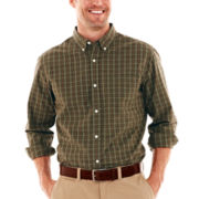 St. John's Bay® Plaid Poplin Shirt