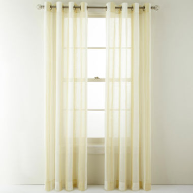jcpenney.com | MarthaWindow™ Bluff Stripe Grommet-Top Sheer Panel