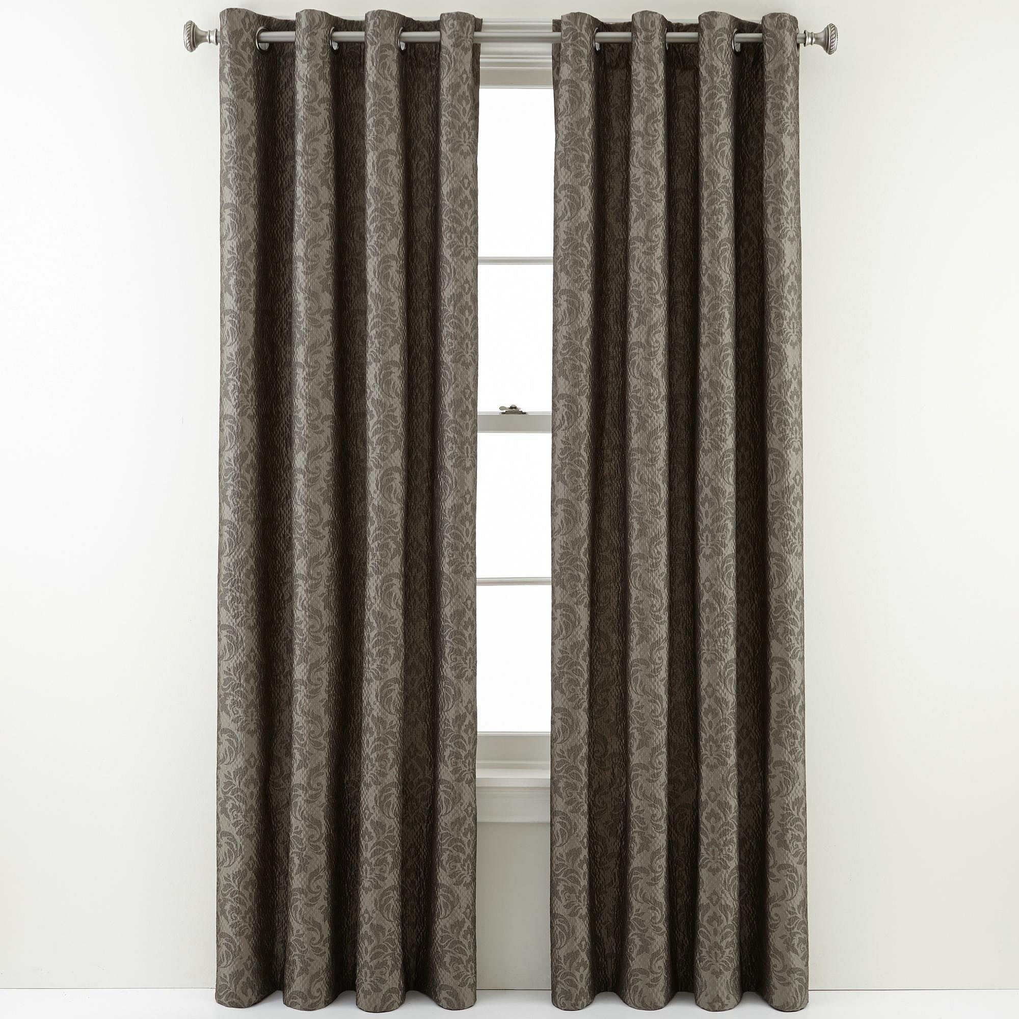Royal Velvet Weston Grommet Top Curtain Panel Gray On Popscreen