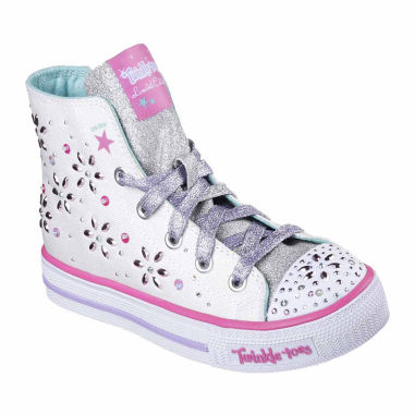jcpenney.com | Skechers® Twinkle Toes Shuffles Girls High Top Sneakers - Little/Big Kids