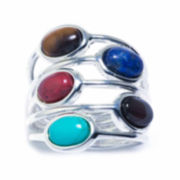 Fashion Carded Rings Womens Silver Over Brass