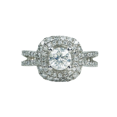 LIMITED QUANTITIES! Womens 2 CT. T.W. Round White Diamond 14K Gold Engagement Ring