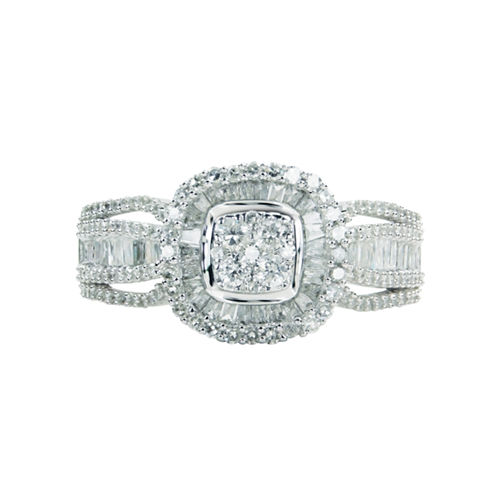 LIMITED QUANTITIES! Womens 1 CT. T.W. Round White Diamond 10K Gold Engagement Ring