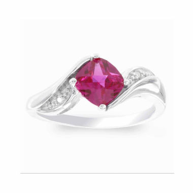 jcpenney.com | Womens Diamond Accent Red Ruby Sterling Silver Cocktail Ring