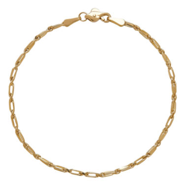 jcpenney.com | LIMITED QUANTITIES! 14K Yellow Gold Polished Solid Baguette 1.85mm Rope Bracelet