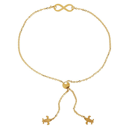 LIMITED QUANTITIES! 14k Yellow Gold Infinity Adjustable Bracelet