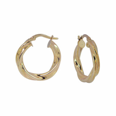 jcpenney.com | 14K Yellow Gold Polished Twisted Hoop Earrings