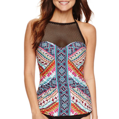 jcpenney.com | a.n.a Tribal Beat High Neck Tankini Swimsuit Top