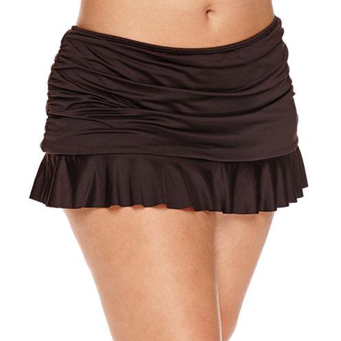 a.n.a Solid Swim Skirt-Plus