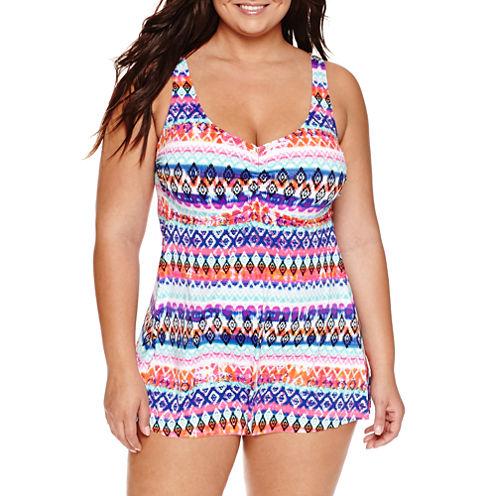 a.n.a Ikat Stripe Swim Dress