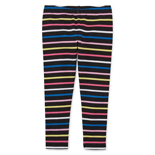 Okie Dokie Stripe Denim Leggings - Toddler Girls