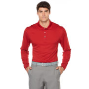 PGA Tour Solid Mesh Polo Shirt