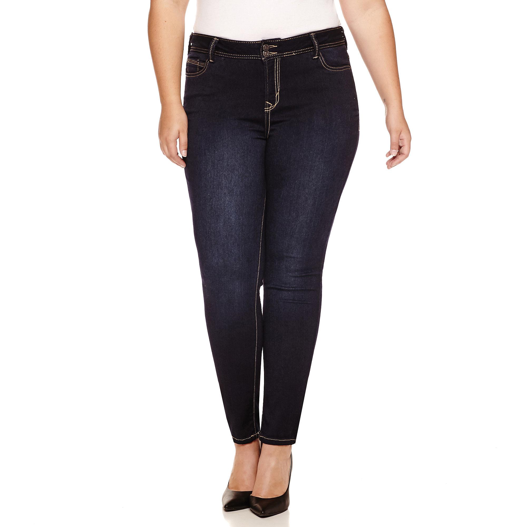 Truce Skinny Jeans-Juniors Plus plus size,  plus size fashion plus size appare