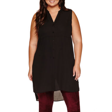 jcpenney.com | Worthington Sleeveless Button-Front Shirt-Plus