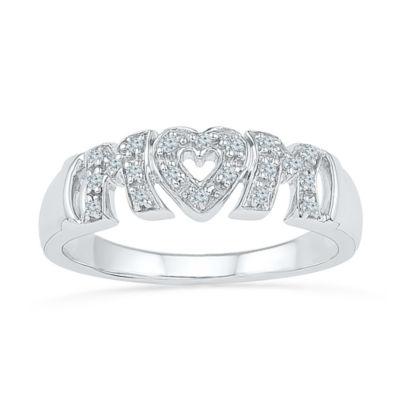 Fine Jewelry Womens 1/10 CT. T.W. White Diamond 10K Gold Band eZSkUufXz
