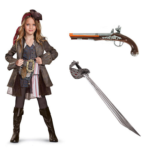 Pirates of the Carribean Captain Jack Girl's Deluxe Costume Kit