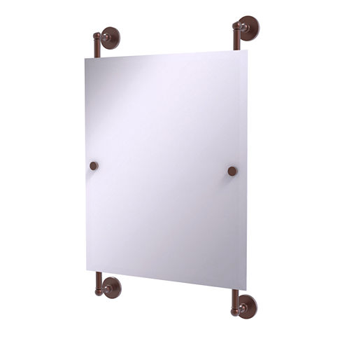 Allied Brass Prestige Skyline Collection Rectangular Frameless Rail Mounted Mirror