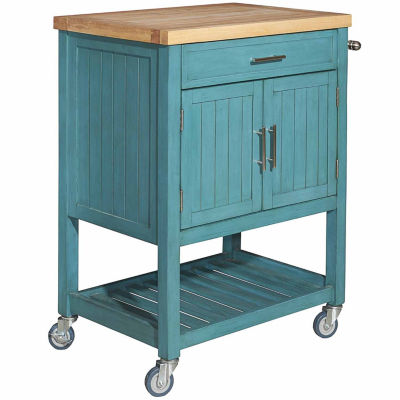 Conrad Kitchen Cart Color Teal Jcpenney