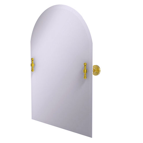 Allied Brass Retro Dot Frameless Arched Top Tilt Beveled Wall Mirror