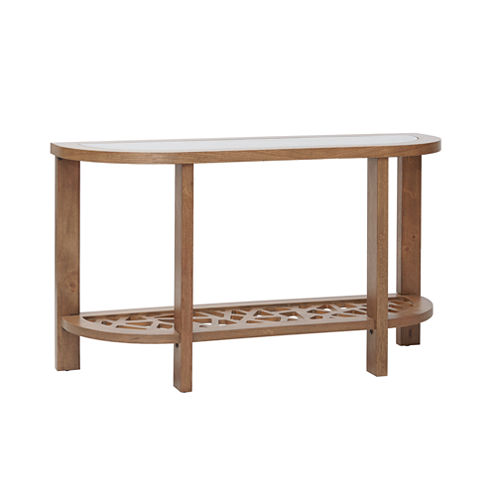 Ink + Ivy Crackle Console Table