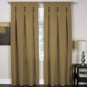 Murano Rod-Pocket/Back-Tab Inverted Pleat Curtain Panel