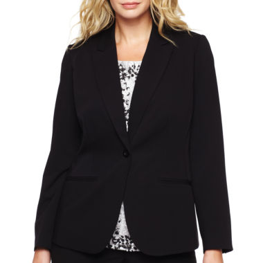 jcpenney.com | Liz Claiborne® One-Button Peak Label Blazer - Plus