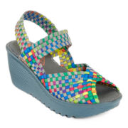 St. John's Bay® Kernal Wedge Sandals